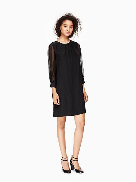 Kate Spade Silk Shift Dress, Black - Size 0