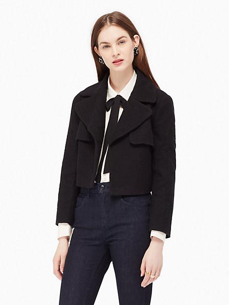 Boucle Jacket, Black - Size 0