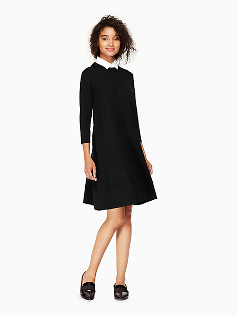 Kate Spade Collared Sweater Dress, Black - Size L