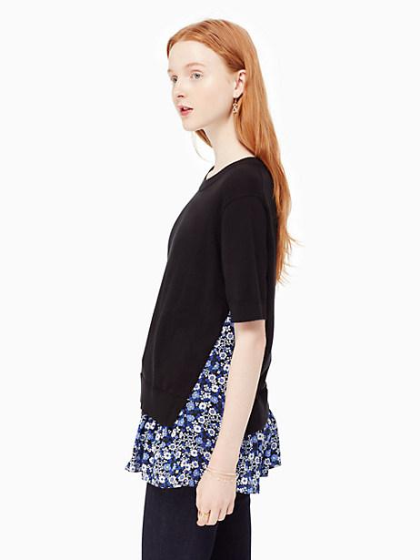 Kate Spade Ditzy Field Sweater, Black/Ensemble Blue - Size M