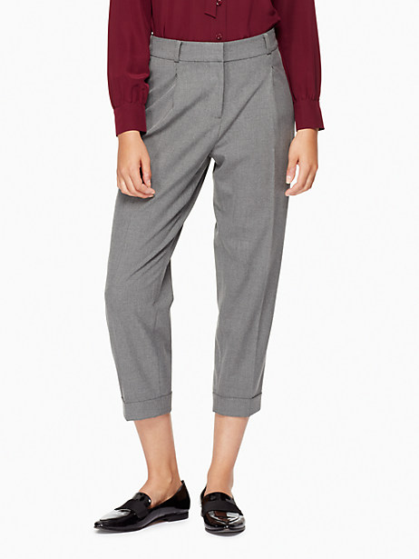 Kate Spade Cuffed Trouser, Miles Grey Melange - Size 0