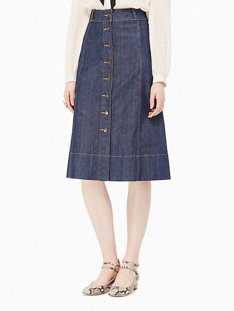 Kate Spade Denim A-line Skirt, Dark Denim - Size 0