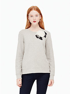 rosette bow sweatshirt by kate spade new york