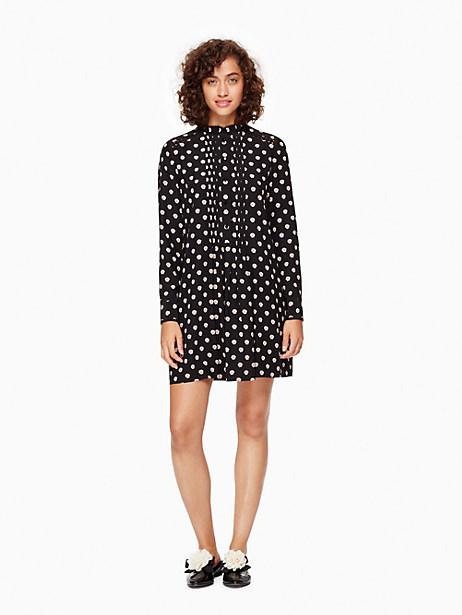 Kate Spade Ditzy Silk Swing Dress, Black - Size L
