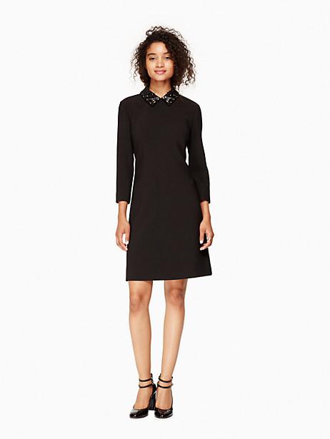 Kate Spade Embellished A-line Dress, Black - Size 0