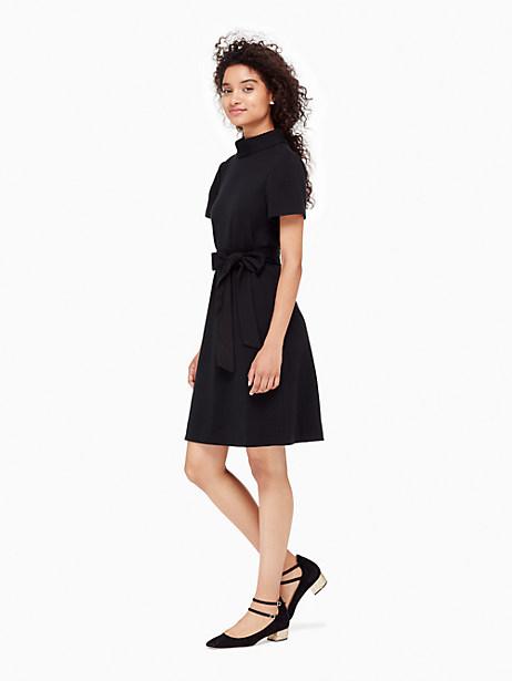Kate Spade Mock Neck Shift Dress, Black - Size L