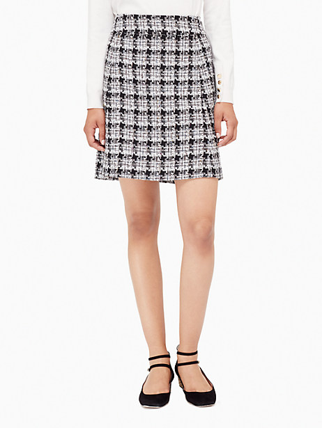 Kate Spade Textured Tweed A-line Skirt, Black/Grey - Size 0