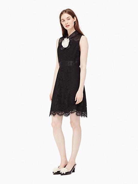 Kate Spade Lace A-line Dress, Black - Size 0