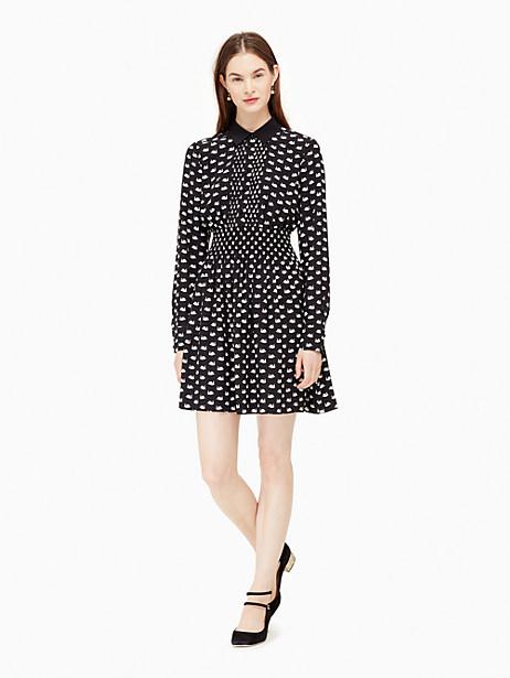 Kate Spade Swans Shirtdress, Black - Size L