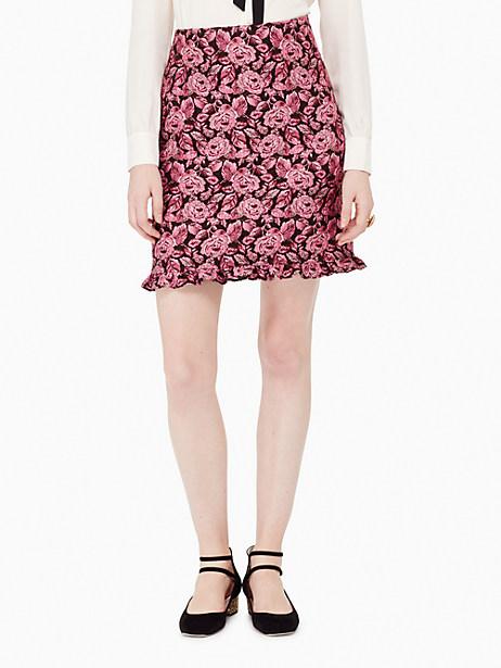 Kate Spade Rose Textured Ruffle Skirt, Rose - Size 12