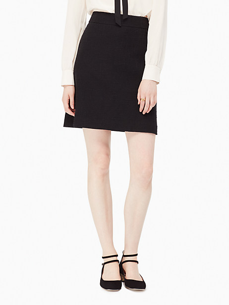 Kate Spade Boucle Skirt, Black - Size 00