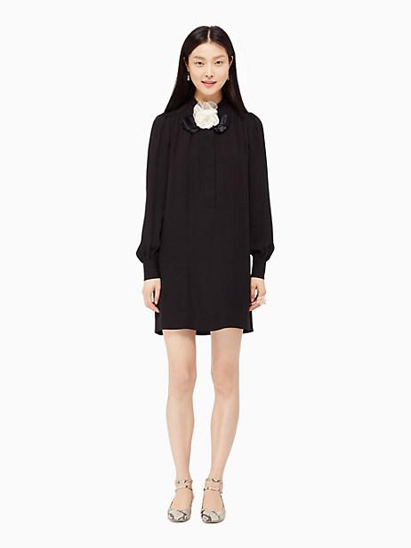 Kate Spade Rosette Bow Shirtdress, Black - Size 0
