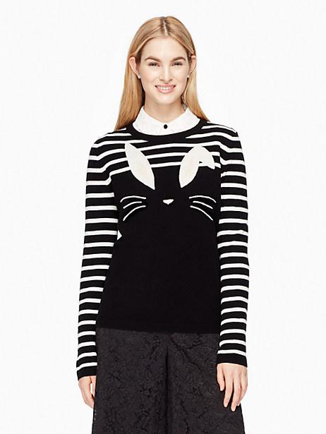 Kate Spade Bunny Sweater, Black/Cream - Size M