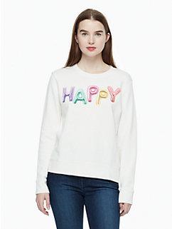 happy sweatshirt by kate spade new york