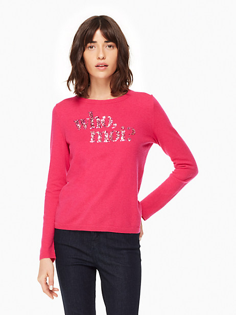 Kate Spade Moi Sweater, Cabaret Pink - Size L