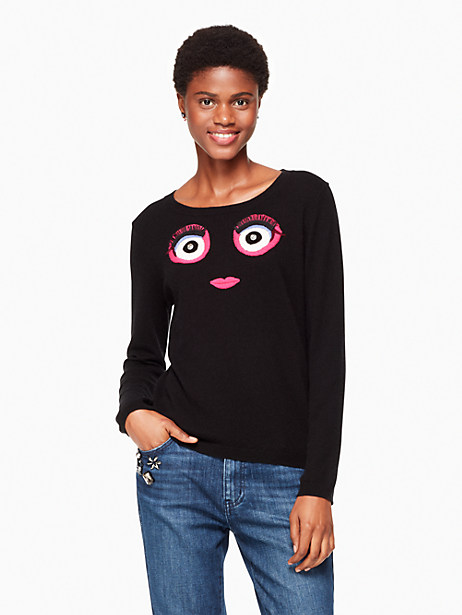 Kate Spade Monster Sweater, Black - Size L