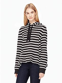 stripe hooded sweatshirt by kate spade new york