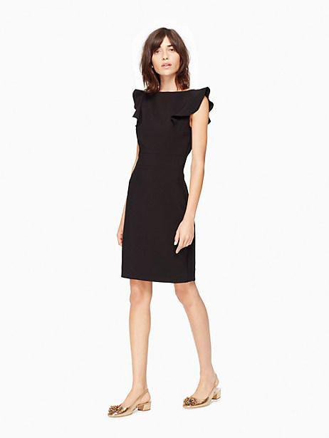 Kate Spade Flutter Sleeve Sheath Dress, Black - Size 14