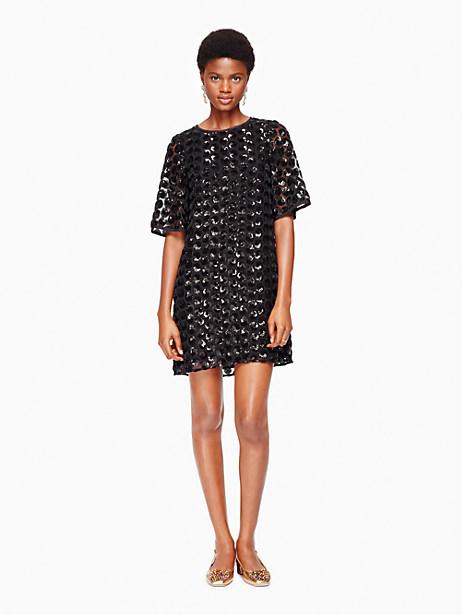 Kate Spade Sequin Dot Dress, Black - Size 0