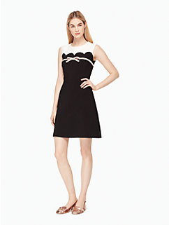 scallop bow a-line dress by kate spade new york