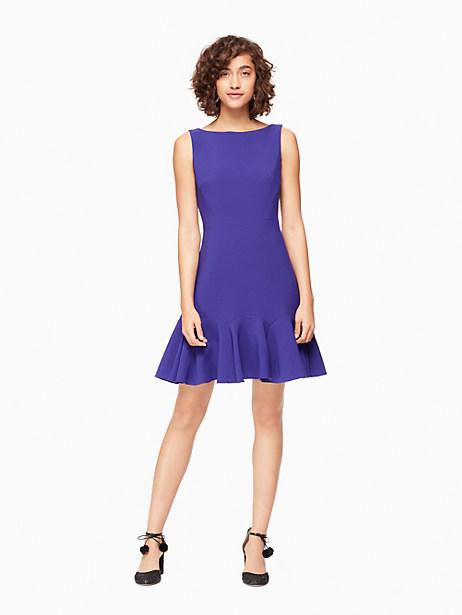 Kate Spade Crepe Flounce Dress, Nightlife Blue - Size 0