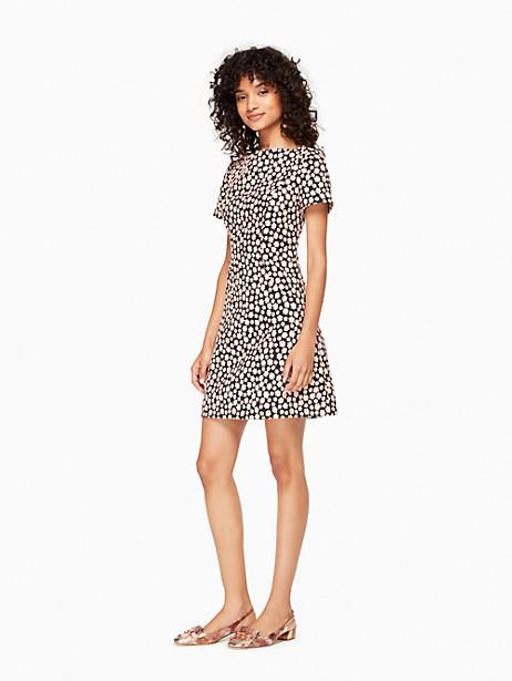 Kate Spade Mini Petal Stamp Dress, Black/Au Naturel - Size 00