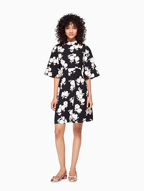 Kate Spade Posy Floral Swing Dress, Black - Size 0
