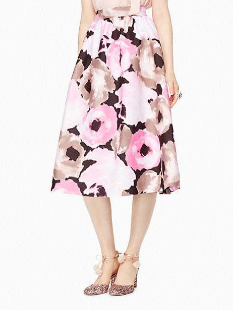 Kate Spade Full Bloom Lex Skirt, Black - Size 0