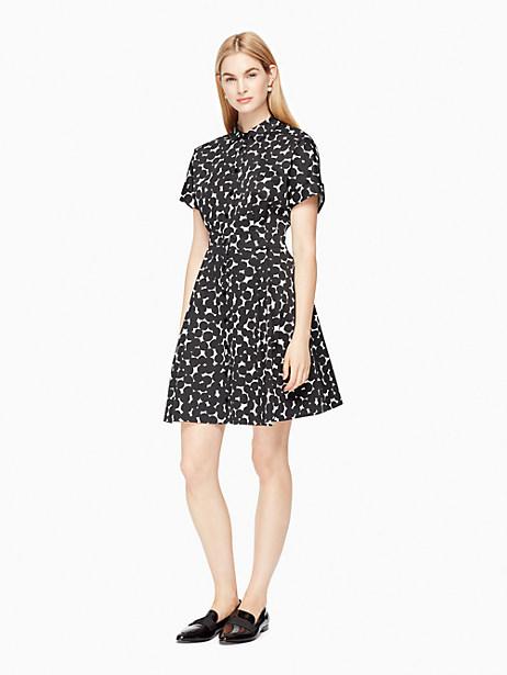 Kate Spade Mini Blot Dot Shirtdress, French Cream/Black - Size 00