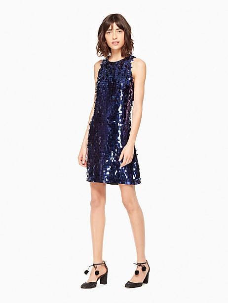 Kate Spade Allover Paillette Dress, Black - Size 0