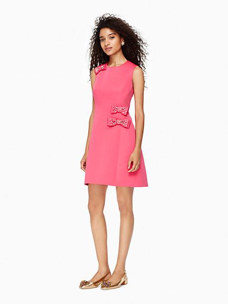 Kate Spade Embellished Bow A-line Dress, Cabaret Pink - Size 00