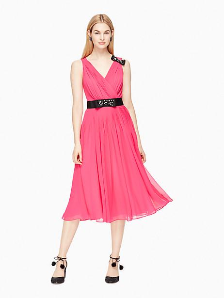 Kate Spade Embellished Bow Dress, Cabaret Pink - Size 0