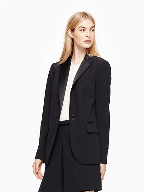 Kate Spade Crepe Blazer, Black - Size 0