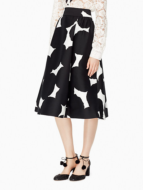 Kate Spade Blot Dot Midi Skirt, French Cream/Black - Size 0