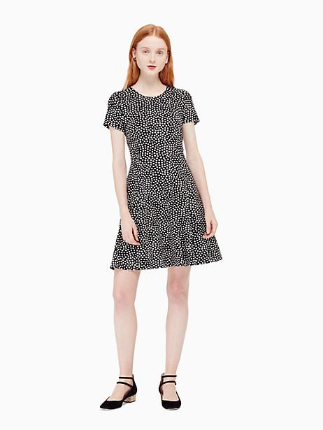 Kate Spade Spot Ponte Dress, Black/Cream - Size 0