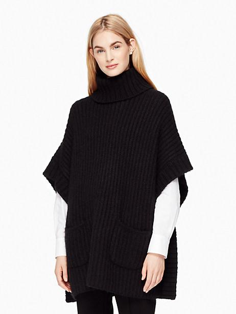 Kate Spade Alpaca Cape Sweater, Black