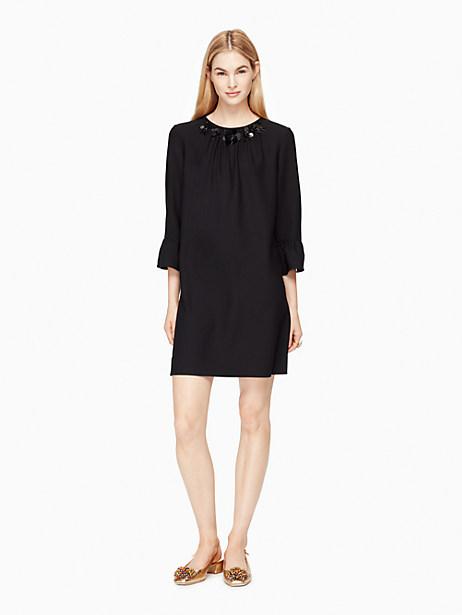 Kate Spade Embellished Shift Dress, Black - Size 0
