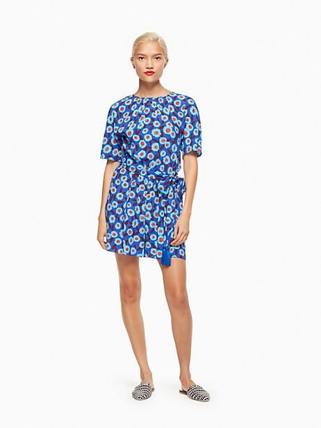 Kate Spade Tangier Floral Crepe Jumpsuit, Cobalt Blue - Size L
