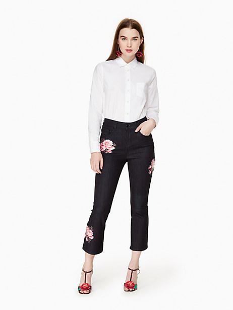Kate Spade Rose Kick Flare Jean, Dark Rinse - Size 23