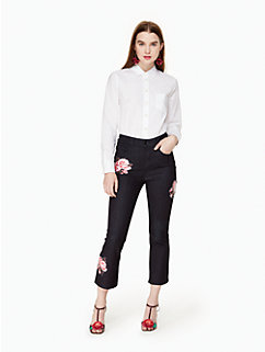 rose kick flare jean by kate spade new york