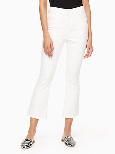 Kate Spade Kick Flare Jean, Fresh White - Size 23