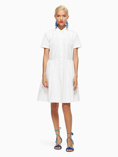 poplin swing shirtdress