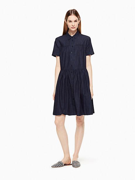 Kate Spade Chambray Swing Shirtdress, Chambray - Size L