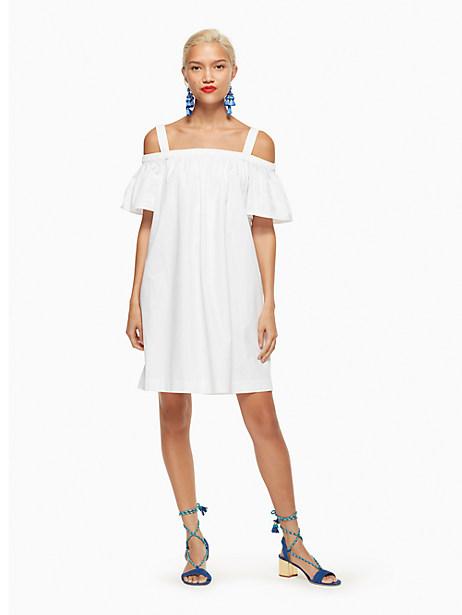 Kate Spade Cold Shoulder Dress, Fresh White - Size L