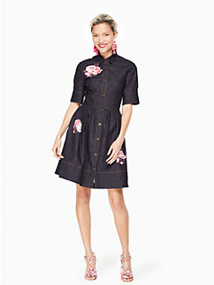 rose denim shirtdress by kate spade new york