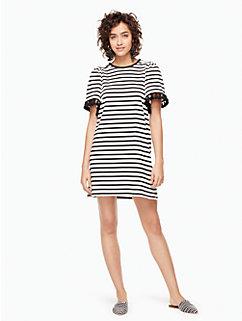 stripe flutter sleeve dress by kate spade new york