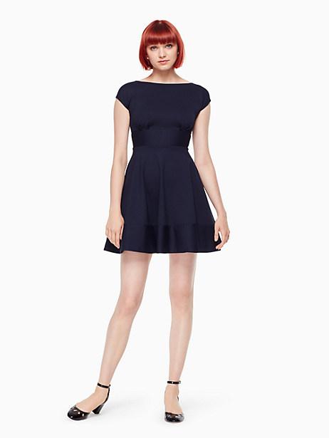 Kate Spade Ponte Fiorella Dress, Rich Navy - Size L