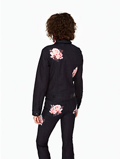 rose denim jacket by kate spade new york