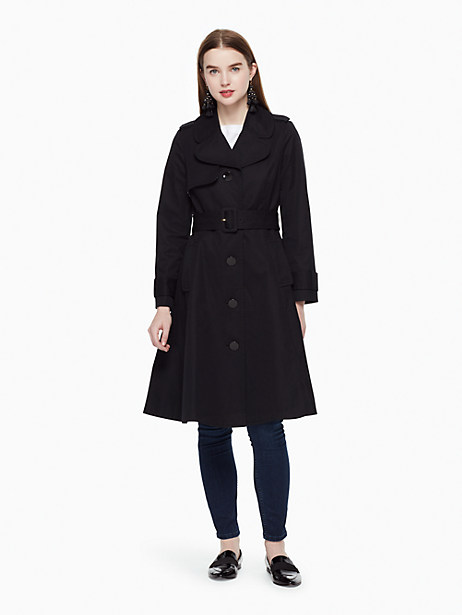 Kate Spade Classic Trench Coat, Black - Size L