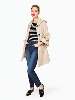 hooded twill coat by kate spade new york
